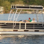 Crest Double Decker delivered by MarineMax to Rock Lane Resort and Marina